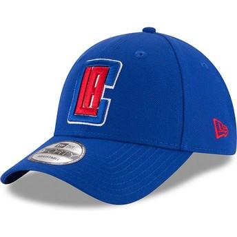 Casquette courbée bleue ajustable 9FORTY The League Los Angeles Clippers NBA New Era