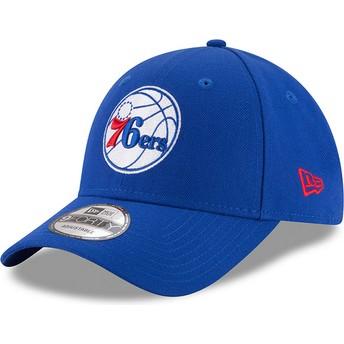 Casquette courbée bleue ajustable 9FORTY The League Philadelphia 76ers NBA New Era