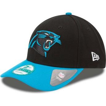 Casquette courbée noire et bleue ajustable 9FORTY The League Carolina Panthers NFL New Era