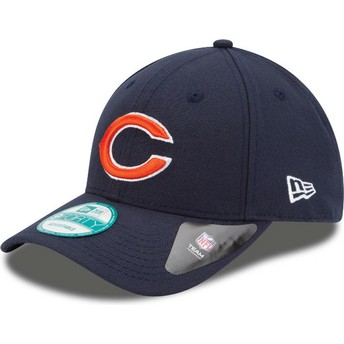 Casquette courbée bleue marine ajustable 9FORTY The League Chicago Bears NFL New Era