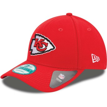 Casquette courbée rouge ajustable 9FORTY The League Kansas City Chiefs NFL New Era