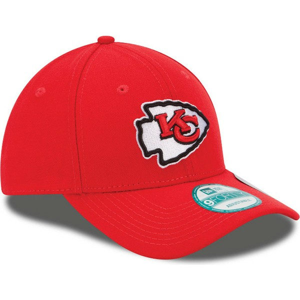 casquette-courbee-rouge-ajustable-9forty-the-league-kansas-city-chiefs-nfl-new-era