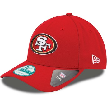 Casquette courbée rouge ajustable 9FORTY The League San Francisco 49ers NFL New Era