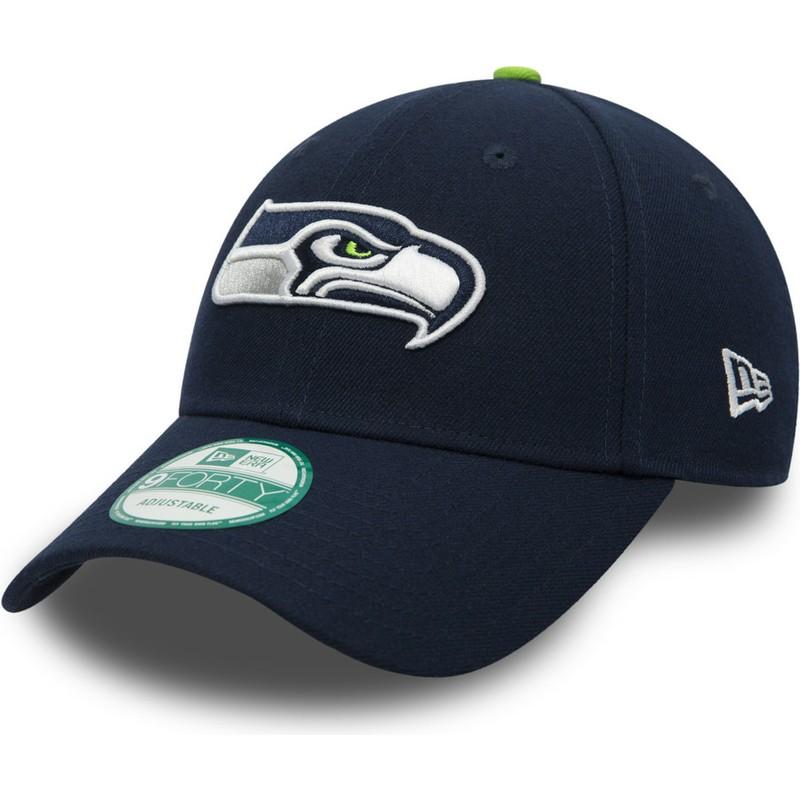 Nfl New Marine Era Bleue Ajustable League The Casquette 9forty Courbée Seahawks Seattle txhrCQdosB