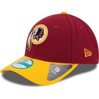 Casquette courbée rouge et jaune ajustable 9FORTY The League Washington Redskins NFL New Era