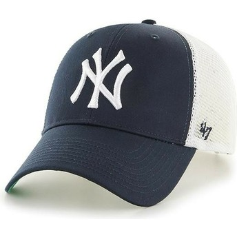 Casquette trucker bleue marine pour enfant New York Yankees MLB MVP Branson 47 Brand