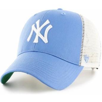 Casquette trucker bleue claire pour enfant New York Yankees MLB MVP Branson 47 Brand
