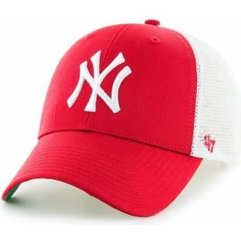 Casquette trucker rouge pour enfant New York Yankees MLB MVP Branson 47 Brand