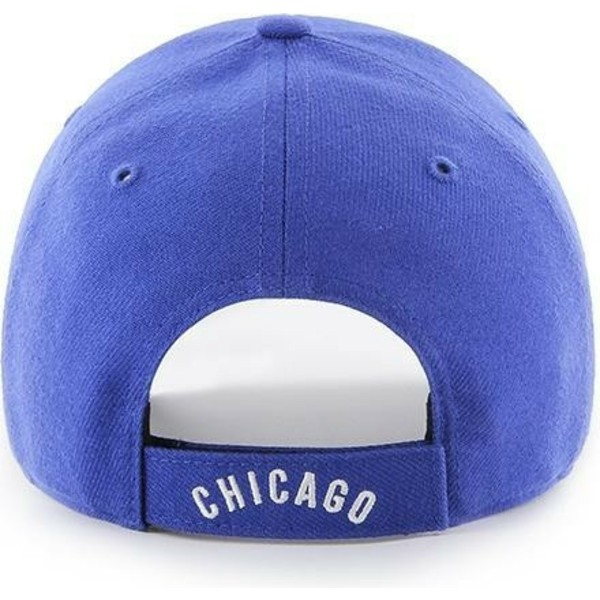 casquette-courbee-bleue-ajustable-avec-logo-classique-chicago-cubs-mlb-mvp-cooperstown-47-brand