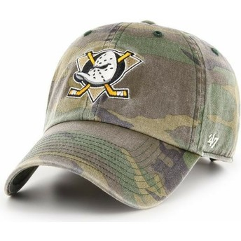 Casquette courbée camouflage ajustable Anaheim Ducks NHL Clean Up 47 Brand