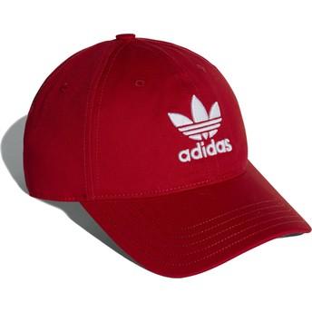 Casquette courbée rouge ajustable Trefoil Classic Adidas