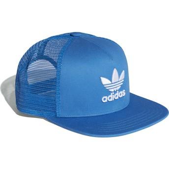 Casquette trucker bleue Trefoil Adidas