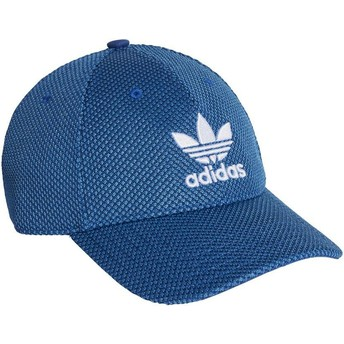 Casquette courbée bleue avec logo blanc Trefoil Primeknit Adidas