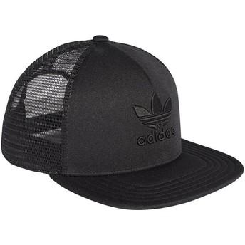 Casquette trucker noire avec logo noir Trefoil Heritage Adidas