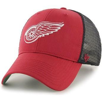 Casquette trucker rouge avec grille noire Detroit Red Wings NHL MVP Branson 47 Brand