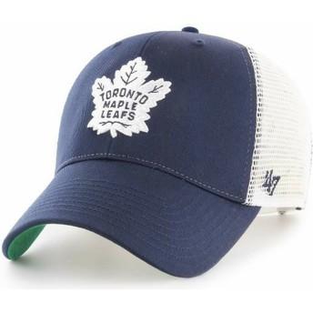 Casquette trucker bleue marine Toronto Maple Leafs NHL MVP Branson 47 Brand