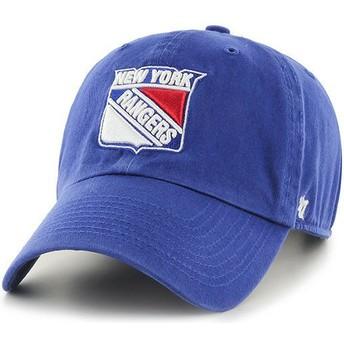 Casquette courbée bleue New York Rangers NHL Clean Up 47 Brand