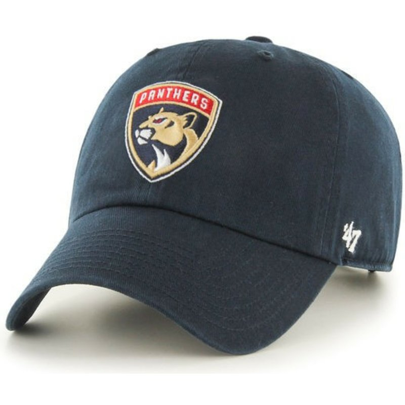 casquette-courbee-bleue-marine-florida-panthers-nhl-clean-up-47-brand