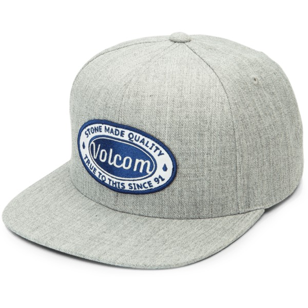casquette-plate-grise-snapback-cresticle-grey-vintage-volcom