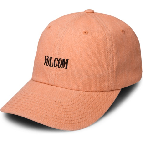 casquette-courbee-orange-ajustable-weave-zine-orange-volcom