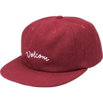 Casquette plate rouge ajustable Wooly Port Volcom