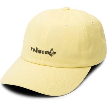 Casquette courbée jaune ajustable Stonographer Acid Yellow Volcom