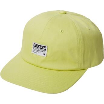Casquette courbée jaune ajustable Case Shadow Lime Volcom