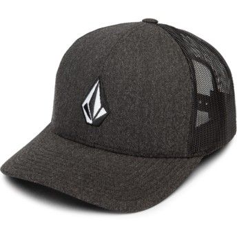 Casquette trucker noire Full Stone Cheese Charcoal Heather Volcom