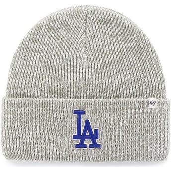 Bonnet gris Los Angeles Dodgers MLB Cuff Knit Brain Freeze 47 Brand
