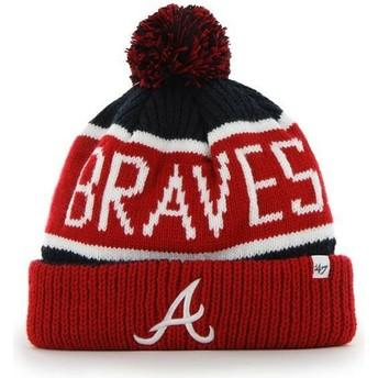Bonnet rouge et bleue marine avec pompom Atlanta Braves MLB Cuff Knit Calgary 47 Brand