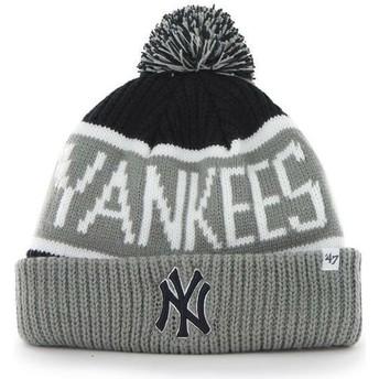 Bonnet gris et bleue marine avec pompom New York Yankees MLB Cuff Knit Calgary 47 Brand