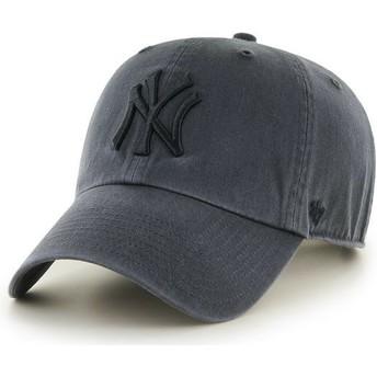 Casquette courbée noire avec logo noir New York Yankees MLB Clean Up 47 Brand