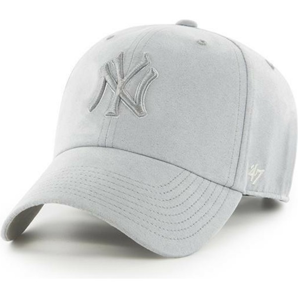 casquette-courbee-grise-avec-logo-grise-new-york-yankees-mlb-clean-up-ultra-basic-47-brand