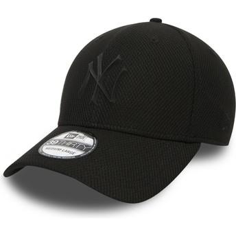 Casquette courbée noire ajustée avec logo noir pour enfant 39THIRTY Rubber Prime New York Yankees MLB New Era