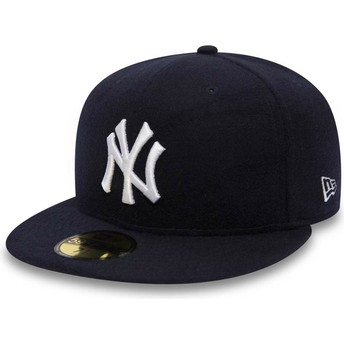 Casquette plate bleue marine ajustée 59FIFTY Camel Hair New York Yankees MLB New Era