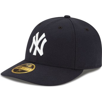 Casquette courbée noire ajustée 59FIFTY Low Profile Authentic New York Yankees MLB New Era