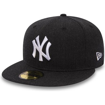 Casquette plate noire ajustée 59FIFTY Seasonal Heather New York Yankees MLB New Era