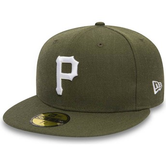 Casquette plate verte ajustée 59FIFTY Seasonal Heather Pittsburgh Pirates MLB New Era