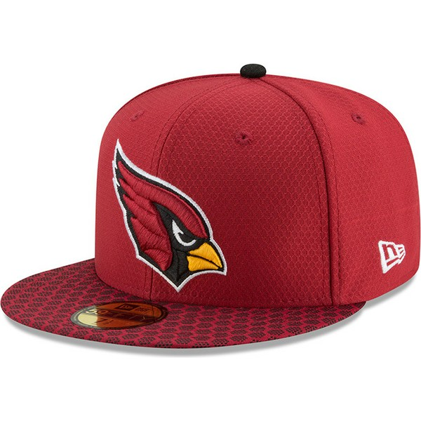 casquette-plate-rouge-ajustee-59fifty-sideline-arizona-cardinals-nfl-new-era