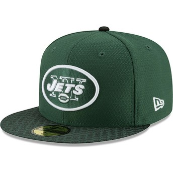 Casquette plate verte ajustée 59FIFTY Sideline New York Jets NFL New Era