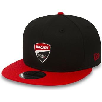 Casquette plate noire snapback 9FIFTY Snaparch Ducati Motor MotoGP New Era