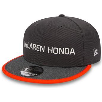 Casquette plate grise snapback 9FIFTY Fernando Alonso McLaren Racing Formula 1 New Era