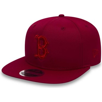 Casquette plate rouge snapback avec logo rouge 9FIFTY Nano Ripstop Boston Red Sox MLB New Era