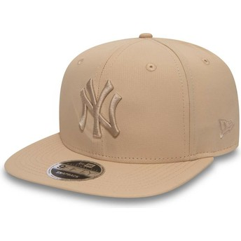 Casquette plate rose snapback avec logo rose 9FIFTY Nano Ripstop New York Yankees MLB New Era