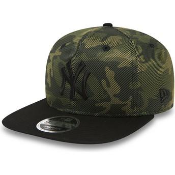 Casquette plate camouflage snapback avec logo et visière noir 9FIFTY Mesh Overlay New York Yankees MLB New Era