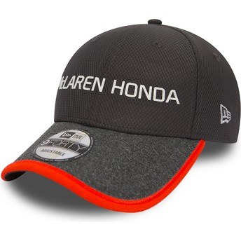 Casquette courbée grise ajustable 9FORTY Fernando Alonso McLaren Racing Formula 1 New Era