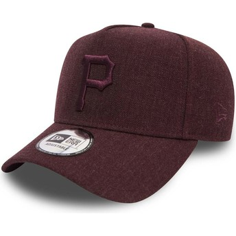 Casquette courbée grenat ajustable avec logo grenat 9FORTY Seasonal Heather A Frame Pittsburgh Pirates MLB New Era