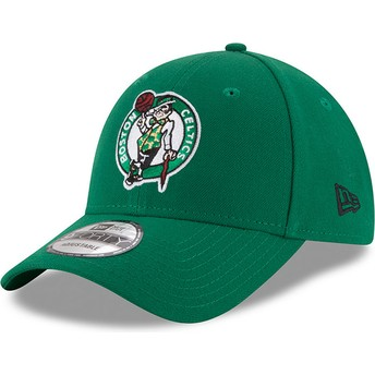 Casquette courbée verte ajustable 9FORTY The League Boston Celtics NBA New Era