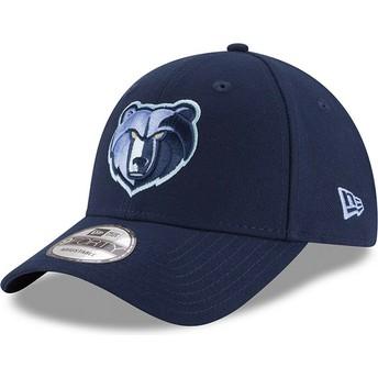 Casquette courbée bleue avec logo brodé ajustable 9FORTY The League Memphis Grizzlies NBA New Era