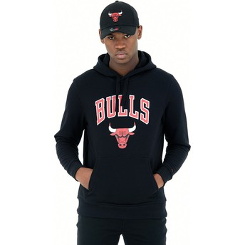 Sweat à capuche noir Pullover Hoody Chicago Bulls NBA New Era